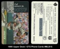 1995 Upper Deck GTS Phone Cards #MLB15