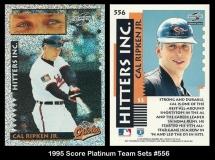 1995 Score Platinum Team Sets #556