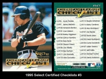 1995 Select Certified Checklists #3