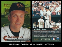 1995 Select Certified Mirror Gold #2131 Tribute