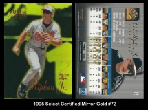 1995 Select Certified Mirror Gold #72