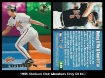 1995 Stadium Club Members Only 50 #40