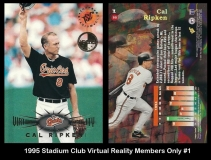1995 Stadium Club Virtual Reality Members Only #1
