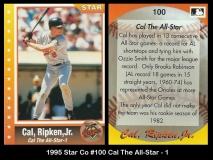 1995 Star Co #100 Cal The All-Star - 1