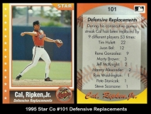 1995 Star Co #101 Defensive Replacements