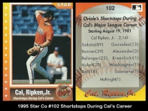 1995 Star Co #102 Shortstops During Cals Career