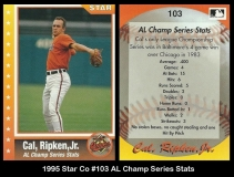 1995 Star Co #103 AL Champ Series Stats