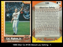 1995 Star Co #106 About Lou Gehrig - 1