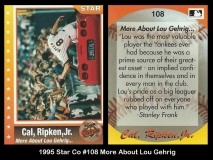 1995 Star Co #108 More About Lou Gehrig