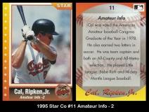 1995 Star Co #11 Amateur Info - 2