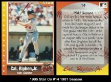 1995 Star Co #14 1981 Season