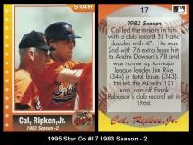 1995 Star Co #17 1983 Season - 2