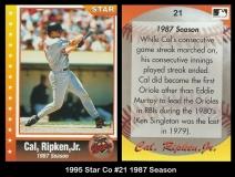 1995 Star Co #21 1987 Season