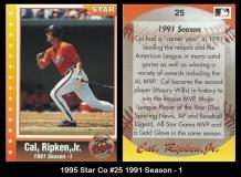 1995 Star Co #25 1991 Season - 1