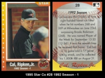 1995 Star Co #28 1992 Season - 1