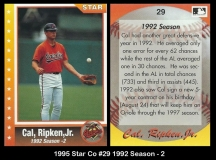 1995 Star Co #29 1992 Season - 2