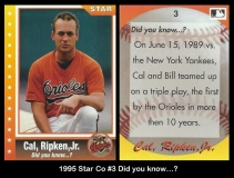 1995 Star Co #3 Did you know
