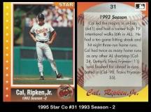 1995 Star Co #31 1993 Season - 2
