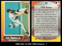 1995 Star Co #32 1994 Season - 1