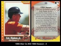 1995 Star Co #33 1994 Season 2