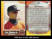 1995 Star Co #34 1995 Season