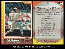 1995 Star Co #35 20 Homers, FIrst 10 Years