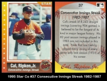 1995 Star Co #37 Consecutive Innings Streak 1982-1987