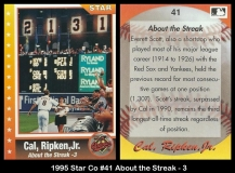 1995 Star Co #41 About the Streak - 3