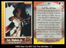 1995 Star Co #47 Cal The All-Star - 2