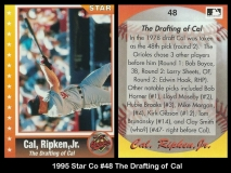 1995 Star Co #48 The Drafting of Cal