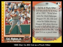 1995 Star Co #50 Cal as a Pinch Hitter