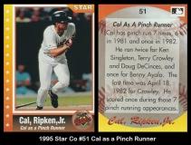 1995 Star Co #51 Cal as a Pinch Runner