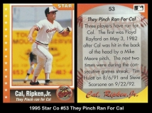 1995 Star Co #53 They Pinch Run For Cal