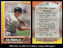 1995 Star Co #56 Cals Major League Stats