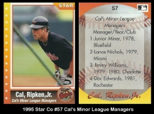 1995 Star Co #57 Cals Minor League Managers
