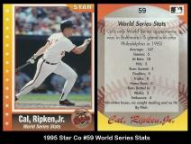 1995 Star Co #59 World Series Stats