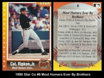 1995 Star Co #6 Most Homers Ever By Brothers