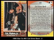 1995 Star Co #61 Cal Gives Back - 2