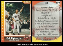1995 Star Co #64 Personal Stats