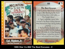1995 Star Co #66 The Best Excuses - 2