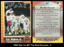 1995 Star Co #67 The Best Excuses - 3