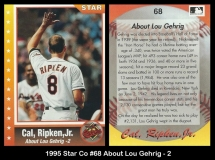 1995 Star Co #68 About Lou Gehrig - 2