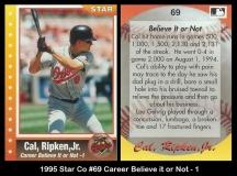 1995 Star Co #69 Career Believe it or Not - 1