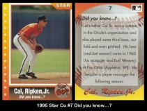 1995 Star Co #7 Did you know