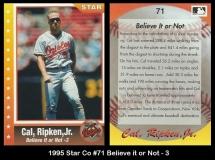 1995 Star Co #71 Believe it or Not - 3