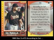 1995 Star Co #73 According to Cal