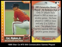 1995 Star Co #75 Consecutive Games Played
