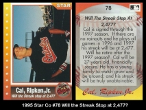 1995 Star Co #78 Will the Streak Stop at 2477