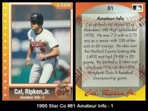 1995 Star Co #81 Amateur Info - 1