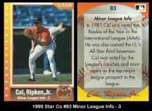 1995 Star Co #83 Minor League info 3